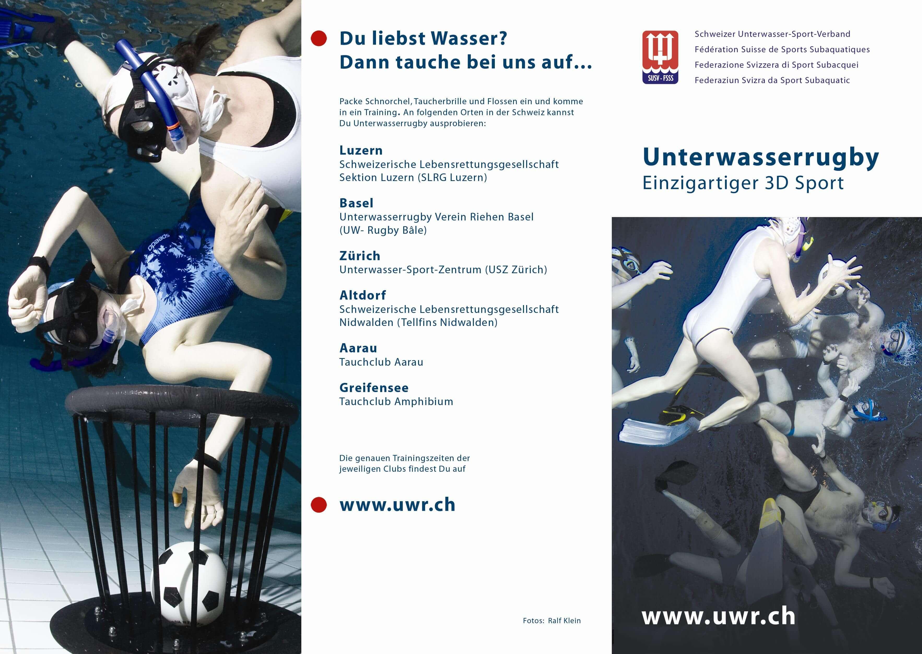 Unterwasserrugby Aussenseite Flyer